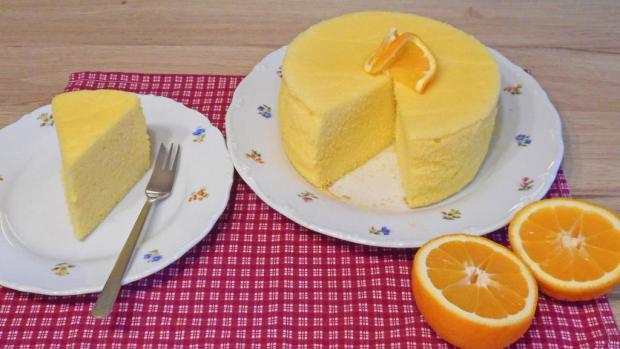 Sponge cake s pomarančovou šťavou - foto postup