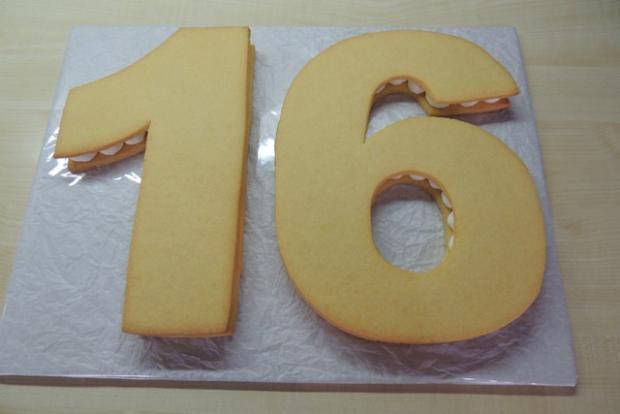 Torta v tvare čísla s fotopostupom - recept postup 8