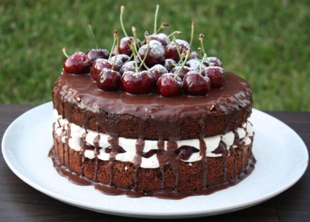 Extra čokoládová torta s čerešňami - recept postup 6