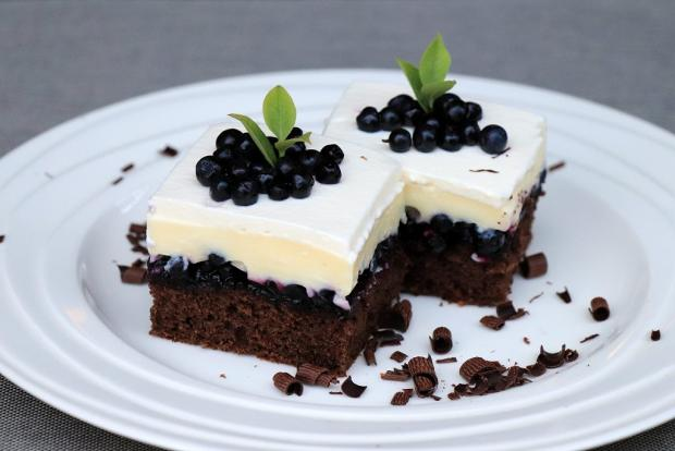 Fantastický čučoriedkový koláč