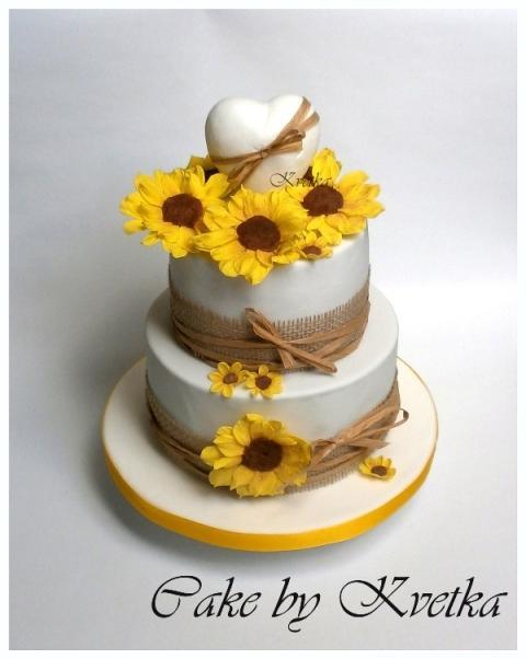 Torta so slnečnicami