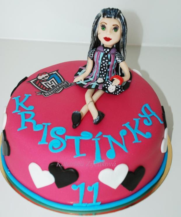 monster torta torta, bábiky a torty pre dievčatá