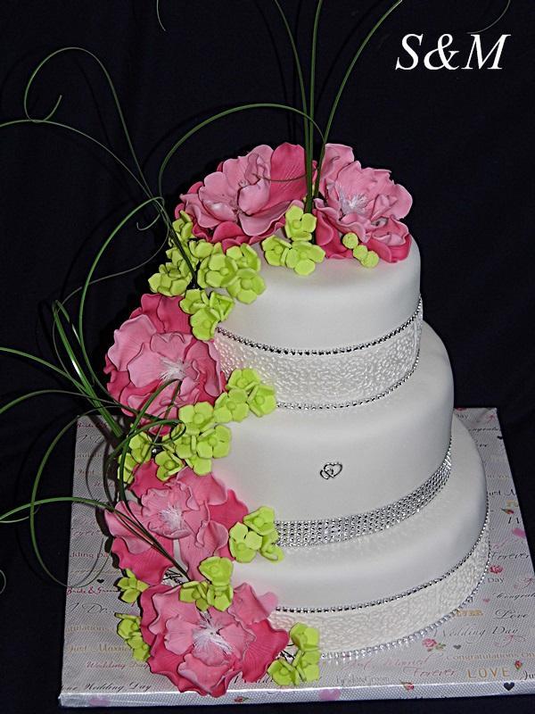 pestrá svadobná... torta, Svadobné torty, silvia11
