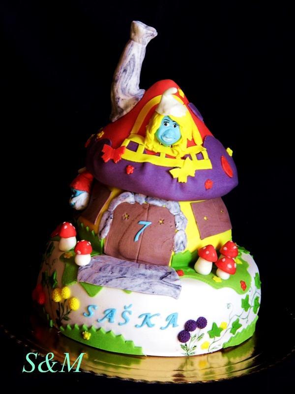 šmolkovská  torta, Rozprávkové torty, silvia11