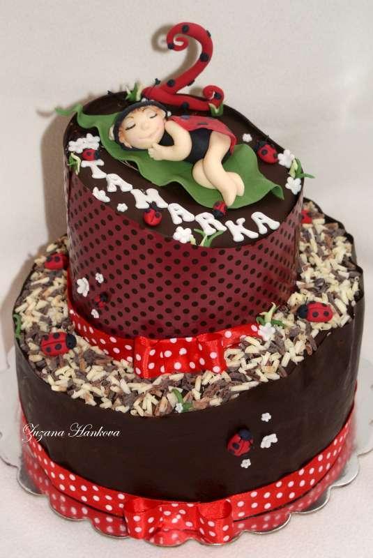 Lienková s čokotransferom...krivá tortička torta, čokoládové torty