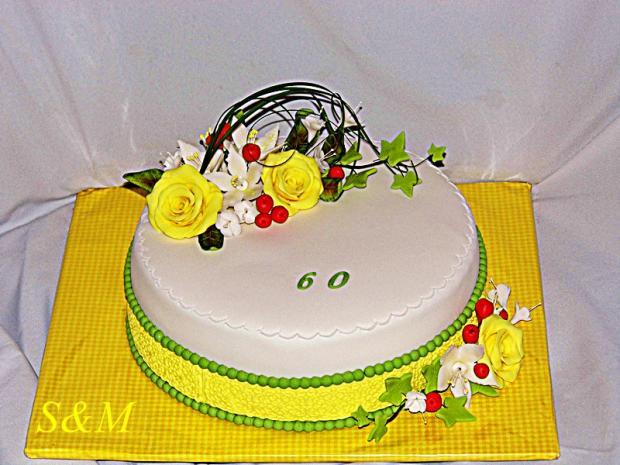 narodeninová žlto zelená.... torta, Narodeninové torty, silvia11