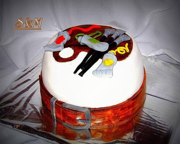 pre maliara... torta, Narodeninové torty, silvia11
