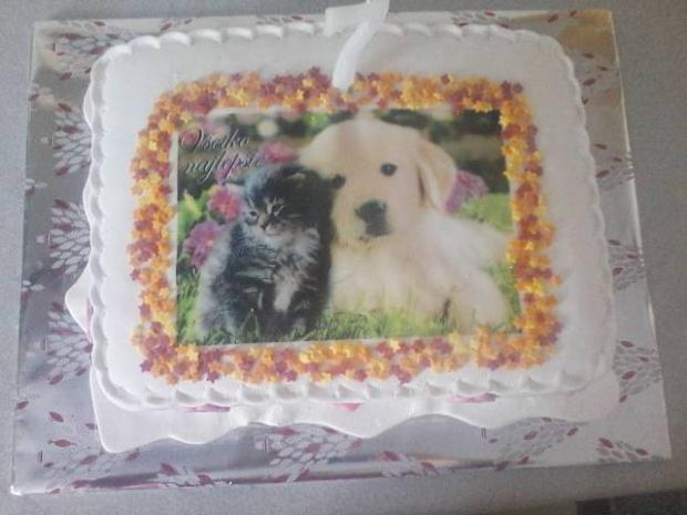 s obrázkom torta, narodeninové