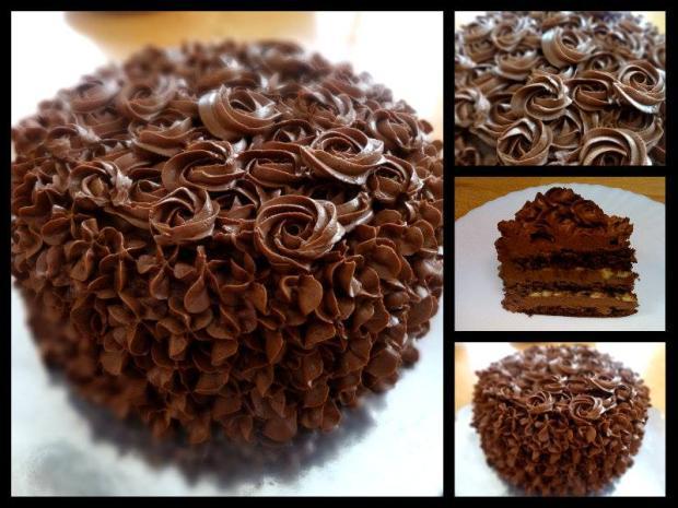 čokoládová vintage torta, čokoládové torty