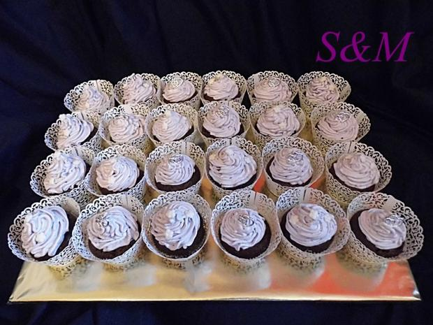 svadobné muffiny torta, Zákusky, silvia11