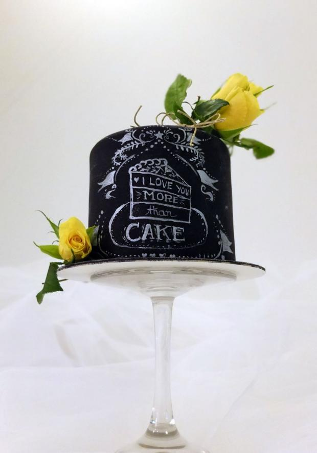 Chalkboard cake torta, Narodeninové torty, SWEETarchitect