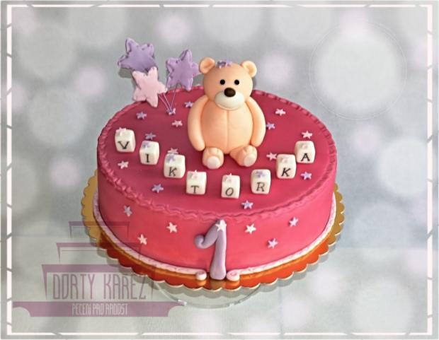 dort k prvním narozeninám pro holčičku Dort k 1. narozeninám pro holčičku torta, Torty pre dievčatá  dort k prvním narozeninám pro holčičku