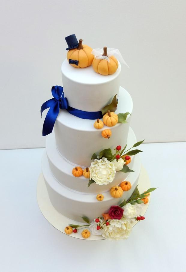 Jesenná svadobna torta