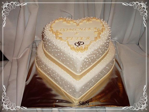 svadobné srdcia  torta, Svadobné torty, silvia11