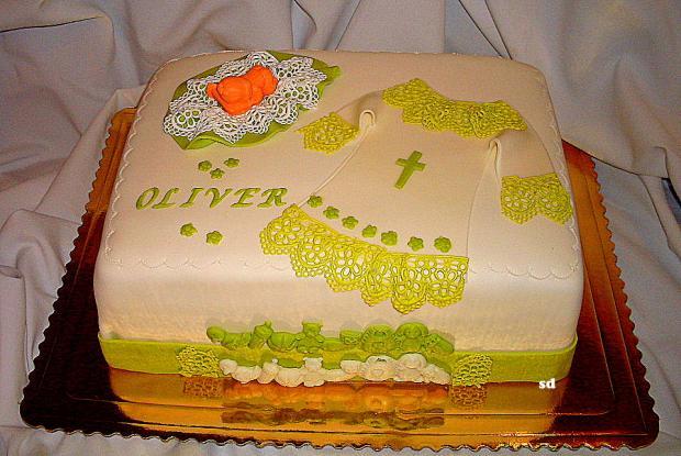 krstinová  torta, Torty na krstiny, silvia11