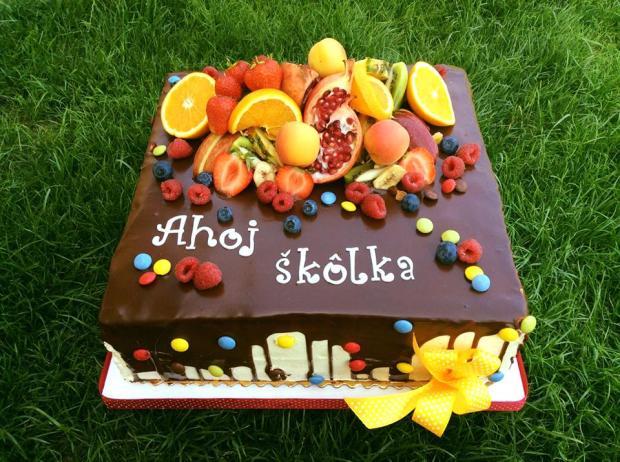 Čokoládová torta  s ovocím, Autor: belen