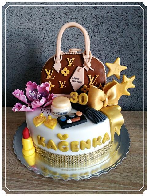 75105ca8e5 Tortička s kabelkou Louis Vuitton torta