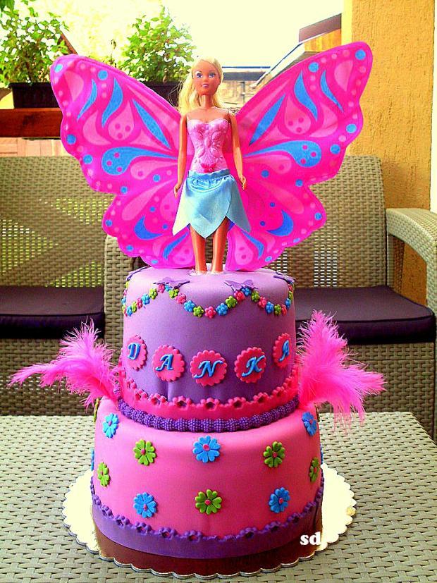 s bábikou torta, Torty pre dievčatá, silvia11