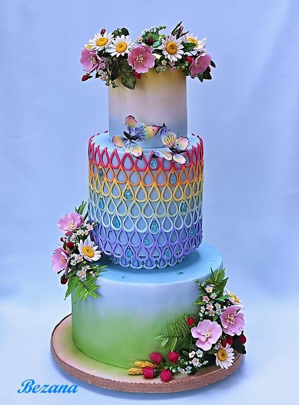 Letná dúha, torta, Autor: bezana