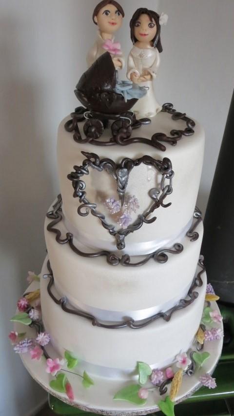 svadba + krstiny torta, Svadobné torty, HelkaT