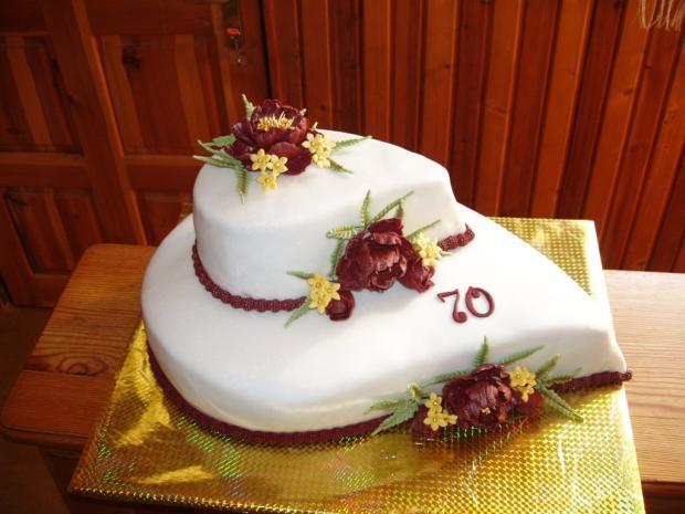 narodeniny 70 torta, Narodeninové torty, vanilka 227