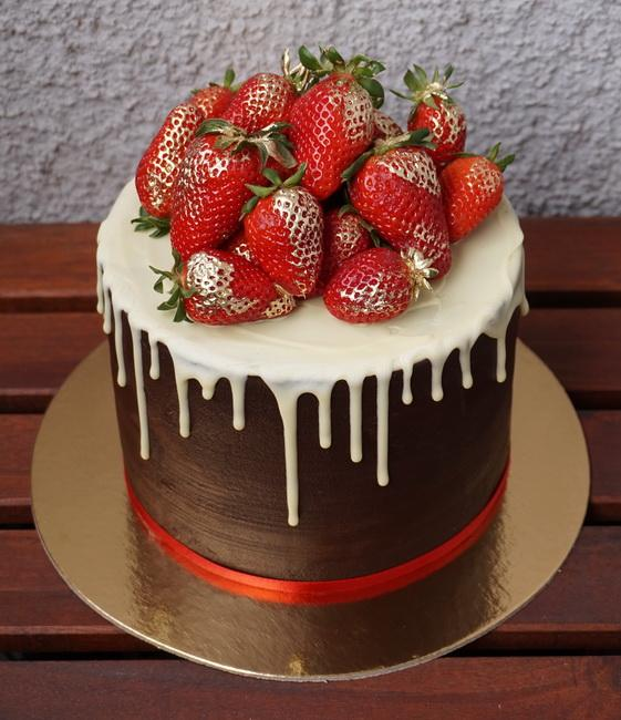 Čokoládová torta s jahodami, Autor:  Zabinka