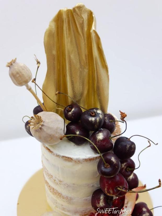 Narodeninová zo zlatým čoko plátom torta, Narodeninové torty, SWEETarchitect 2