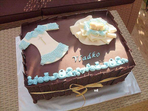 krstinová čoko torta, Torty na krstiny, silvia11