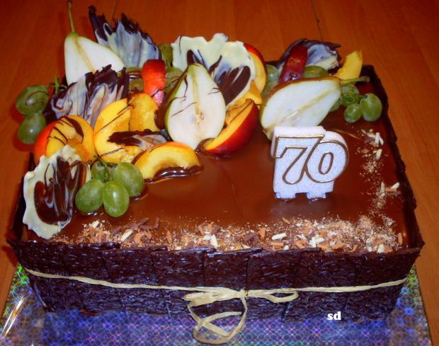 čokoládovo ovocná torta, Čokoládové torty, silvia11
