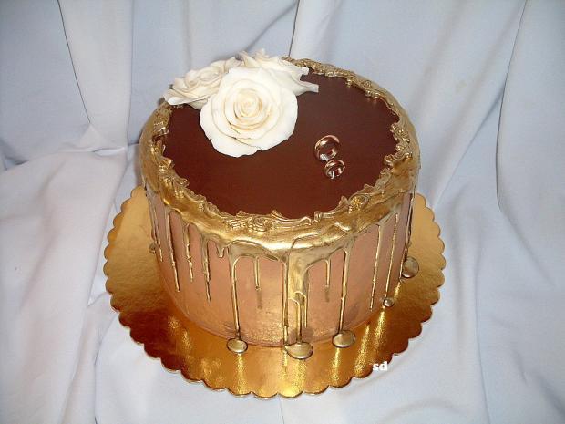čoko svadobná torta, Čokoládové torty, silvia11