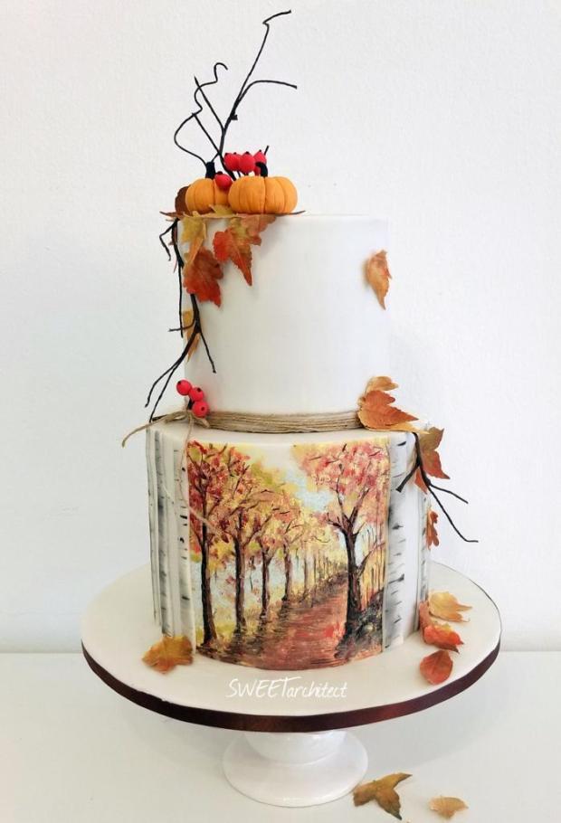Maľovaná jesenná torta,  Autor: SWEETarchitect