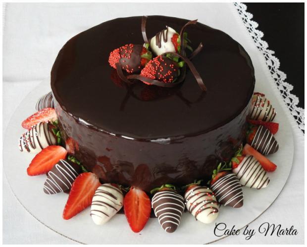 Čokoládová torta s jahodami, Autor:  MartaMc