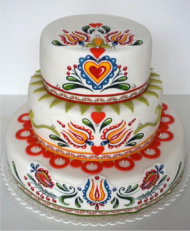 Svadobná torta folklórna