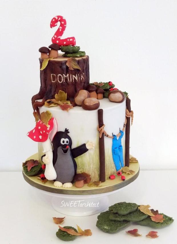 Krtko v lese, torta
