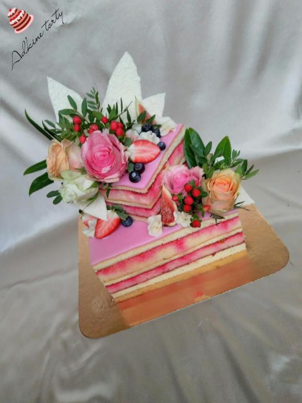 Svadobná punčová tortička torta, Svadobné torty, Adka_lc