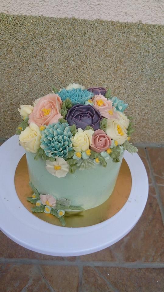Maslové kvietky - kurz torta 061500035a4