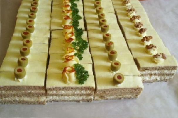 Zakusky v slanom prevedeni torta, Zákusky, marga222