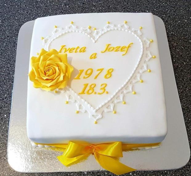 výročie svadby torta, Svadobné torty, MK martina
