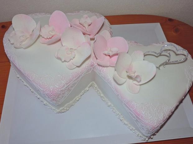 dvojsrdce torta, Svadobné torty, Obertová Mária