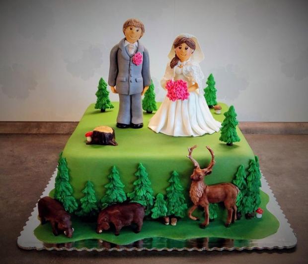 Poľovnícka svadobná... torta, Svadobné torty, sonka71x