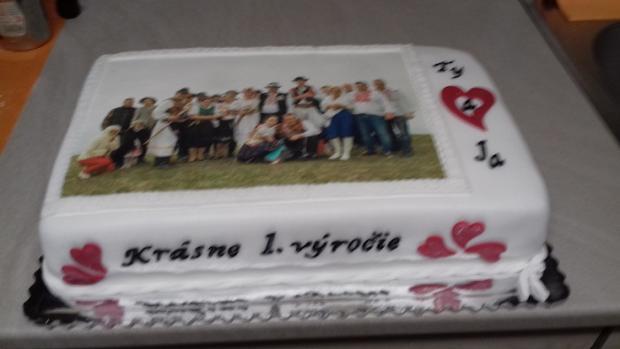 1.výročie  torta, Svadobné torty, monap