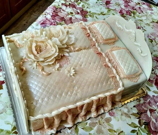 Svadobná posteľ torta, Svadobné torty, Lucia Gažiová
