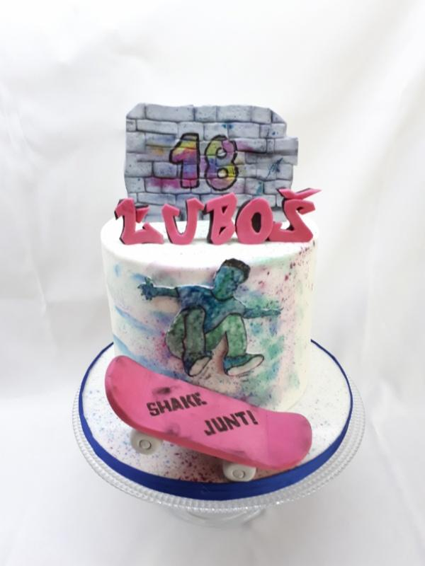 Pre skateboardistu  na 18tku torta, Športové torty, katarina73