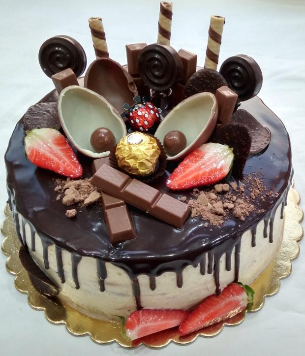 Čokoládová s čokoládou :-) torta, Čokoládové torty, tortysophia.sk
