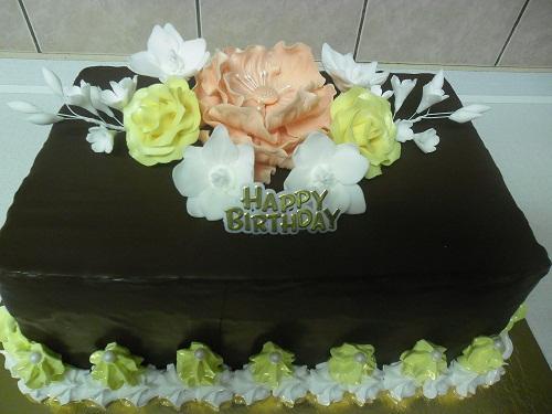 čokoládová k narodeninám torta, Čokoládové torty, Ivka29