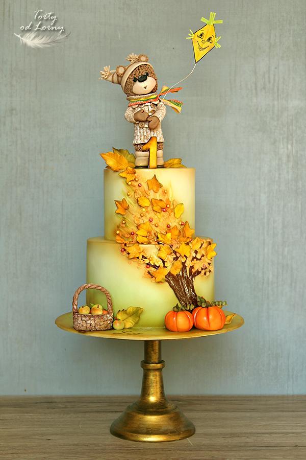 Jesenná torta s mackom