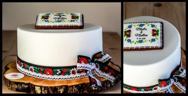 Svadobná darovacia vo folklórom šate torta, Svadobné torty, Cakes by Miša