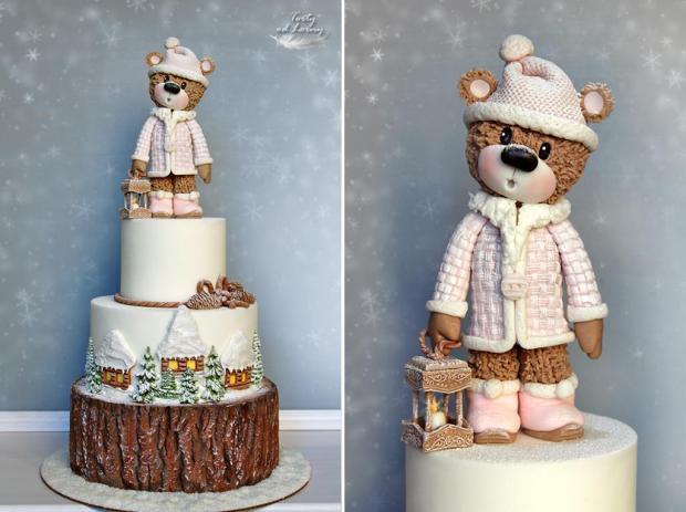 Zimný macík torta, Vianočné torty 3