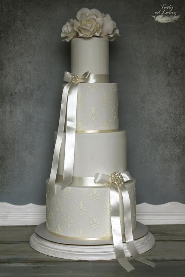 Svadobná jednoduchá torta, Svadobné torty, Lorna