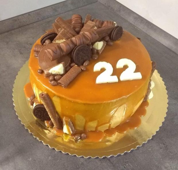 Tvarohovo-karamelová... torta, Narodeninové torty, sonka71x